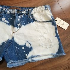 Joe's destroyed denim jeans Adorable shorts and perfectly on trend! Bleached and destroyed style. Vintage Reserve 1971. Baggy. Open to offers. No trades. Joe's Jeans Jeans