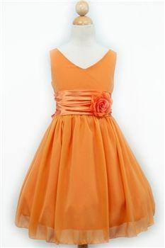 f5c221d43 orange wrinkled flower girl dress - summer wedding favorite color