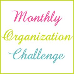 2013 Monthly Organization Challenge - doing it!