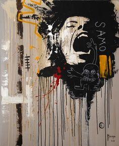 Never stifle a scream - expression is always better.   Basquiat #streetart