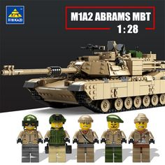 75.00$  Buy here - KAZI 1463PCS Military Building Block Toy 1:28 M1A2 ABRAMS Tank and 1:18 Hummer Scale Model Toys Hobby Compatible with lego  #aliexpress