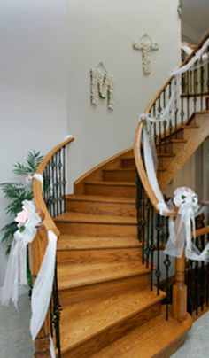 Could do this to our outside railings in front for the big reveal make your own wedding decorations lots of cheap wedding decoration ideas egke your junglespirit Images