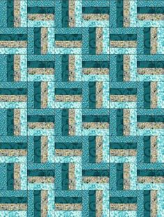 Our quilt kit is already precision pre-cut for accuracy. Cotton fabrics are geometric designs on blue, floral sprays on gray, blue swirls on blue and turquoise hydrangea flowers on white. Quilt Kit by Jellyroll Quilts, Lap Quilts, Strip Quilts, Scrappy Quilts, Quilt Blocks, Quilting Projects, Quilting Designs, Quilting Tutorials, Turquoise Quilt