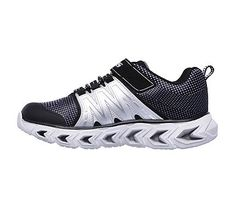 Skechers Kids' Hypno Flash 2.0 Sneaker Pre/Grade School Shoes (Black/Silver)