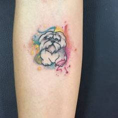 maltese dog tattoo pet on jessica done in black and grey tam 39 s pinterest pets grey and. Black Bedroom Furniture Sets. Home Design Ideas