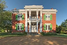 Historic Tennessee antebellum home in the Greek Revival style