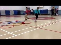 Use 3 pinnies each & they can switch the spot of their pinnie on the turn & after until one team gets 3 in a row. Then start over & play again. My studen. Relay Games, Youth Games, Pe Games, Games For Kids, Pe Activities, Activity Games, Educational Activities, Physical Activities, Summer Camp Games