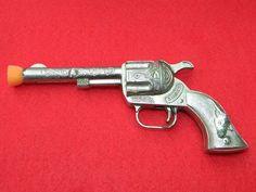 Vintage Diecast Toys SMOKY Toy Cap Gun Metal Pretend Play Gun Vintage Cap Guns