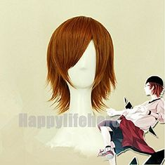 K Project Yata Misaki Fashion Short Layered Brown Costume Cosplay Wig  Free Wig Cap * undefined #HairWigs