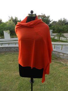 ON SALE Red Pure Pashmina Women Ladies Warm Winter Shawl Stole Scarf Wrap Neckwear Cape/ Christmas Gift Shawl Stole Scarf
