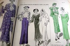 Pictorial Review Fashion Book, Summer 1934 featuring 7079 (for Little Women)