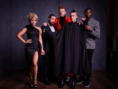 Two- time Grammy winners Pentatonix backstage at the 58th Grammy Awards photo
