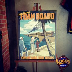 Custom foam board signs. Great for trade shows and presentations. Need one? Call us! 407-447-5646