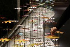 Over 25,000 Paper Flowers Transform Tokyo Venue into Colorful Art Experience by Emmanuelle Moureaux