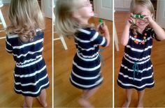 Shirt to drawstring Waist cinch dress DIY
