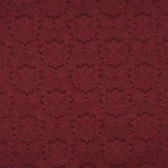 Kovi Fabrics  Product Details   Pattern number K2224 BURGUNDY   Origin U.S.A.   Color Burgundy/Red/Rust   Type Damask/Jacquard   Pattern Floral, Heirloom  Contents 50% Olefin, 50% Polyester Cleaning Water-based cleaner   Durability Heavy Duty   Repeat H: 8 x V: 7   Direction Railroaded   Width 54 inches   Flammability Class UFAC CLASS 1/CA. 117 #E  Stain protection no