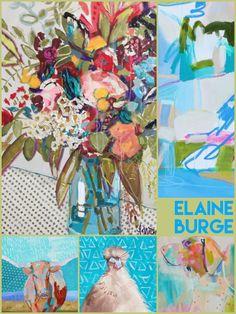 Elaine Burge, American Instagram Artist, New Artists, Love Art, Amazing Art, Illustrator, American, Painting, Painting Art, Paintings