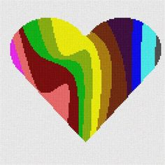 Heart Needlepoint Canvas by pepitaneedlepoint on Etsy, $40.00                                                 youtube to mp3