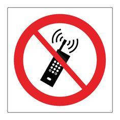 Mobiltelefon forbudt - Køb forbudsskilte her