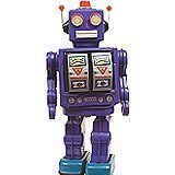 Alexander Taron Battery-operated Robot - Color May Vary by Shanghai. $37.99. Turn switch on - Robot Walks - stops - Doors on Chest Open and Body Turns - Makes Sound like guns firing - Lights Flash as though they were gun muzzle flashes - Doors Close - Walks again