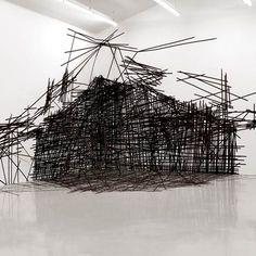 black & white tape installation