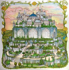 Highgarden from Game of Thrones coloring book