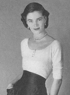 Vintage 1940s Oval Neckline Sweater Knitting Pattern PDF 4809. $3,74, via Etsy.