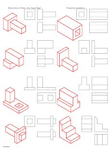 losmuertosdeldiedrico: PERSPECTIVA ISOMÉTRICA-croquis Isometric Drawing Exercises, Autocad Isometric Drawing, Isometric Art, Drawing Lessons, Drawing Techniques, Doodle Drawings, Drawing Sketches, Pencil Drawings, Orthographic Drawing