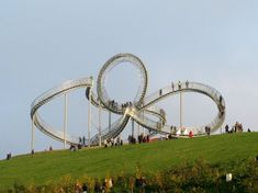 """""""Tiger & Turtle – Magic Mountain"""" in Duisburg, Germany.... A walkable sculpture, by Heike Mutter and Ulrich Genth"""