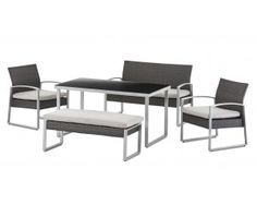 Victoria 5 Piece Low Dining Setting - VIC5PLOWJ
