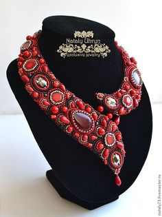 "Fair Masters - handmade necklace ""Firelight""."