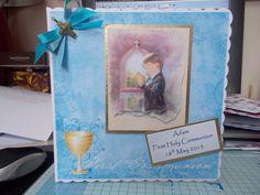 communion card for a boy