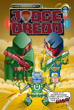 Judge Dredd No2 by Lee Hasler, via Behance