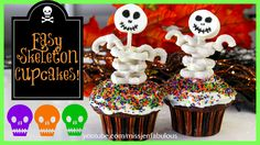 skeleton cupcakes with video tutorial..can't wait to try these