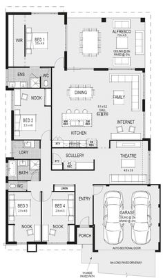 Change bed 2 nook area to an ensuite Sims House Plans, House Layout Plans, New House Plans, Dream House Plans, House Layouts, House Floor Plans, Latest House Designs, Home Design Floor Plans, Storey Homes