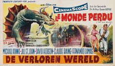 thevaultofretroscifi: Belgian poster for The Lost World...