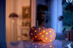 Polka Dot Jack O Lanterns