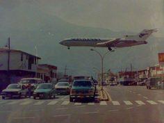 727 Aterrizando en el aeropuerto de Merida, Venezuela