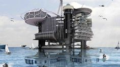 Using old oil rigs for ocean vacations  - not sure if this will take off on Scotland's North sea platforms...