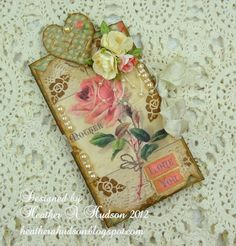 Heather does fab shabby chic paper crafts!