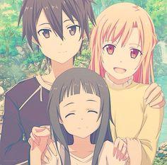 Kirito, Asuna, and Yui make an adorable family OMG