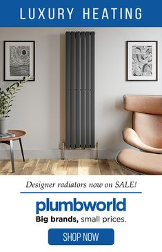 Shop the variety of luxury heating products at Plumbworld. Combining the best in functionality with statement designs, our range is perfect for adding that extra-special detail that can really elevate your room. Open Plan Kitchen Dining Living, Living Room Kitchen, Living Room Decor, Bedroom Decor, Kitchen Room Design, Interior Design Kitchen, Tall Radiators, Horizontal Radiators, Designer Radiator