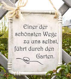 Gartendekoration - Garten Schild mit Spruch aus Beton  - ein Designerstück von PapillonDesign bei DaWanda