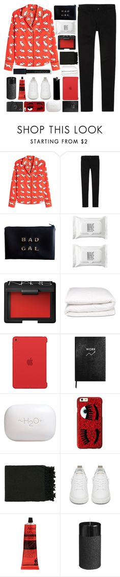 """We've Been Through Some Things ~"" by anam53046 ❤ liked on Polyvore featuring Markus Lupfer, Uniqlo, Make, NARS Cosmetics, Selfridges, Apple, Sloane Stationery, H2O+, Chiara Ferragni and Surya"