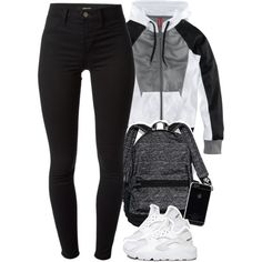 A fashion look from October 2015 featuring H&M jackets, J Brand leggings and NIKE athletic shoes. Browse and shop related looks.