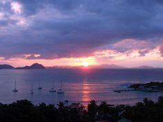 Cane Garden Bay Beach, Tortola ~ on a sailboat!  Last night of trip spent here.  Love!