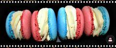 """allez les bleus   Macarons au chocolat blanc """"Allez les bleus"""" - CakesandSweets.fr"""