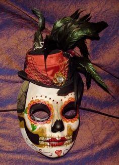 Dia de los Muertos masks made from milk jugs!