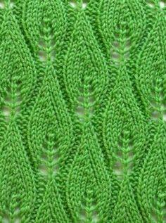 Leaf Knit Stitch Pattern #Knitting http://knitchart.com/category/leaves-knit-patterns.html