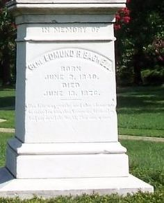 Edmund Robinson Bagwell 1839-1876 2nd Lt. Co F 46th VA Infantry. CSA.